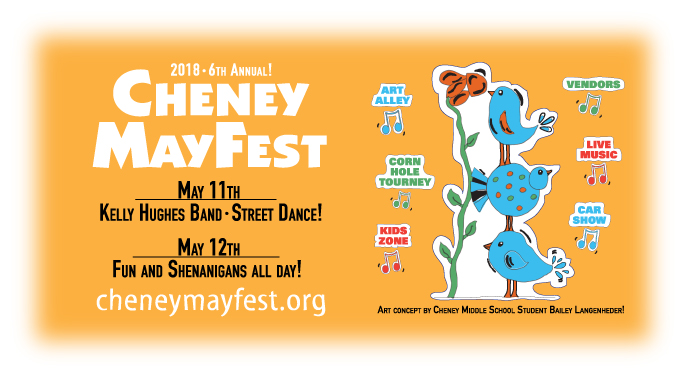 6th Annual Cheney MayFest Billboard
